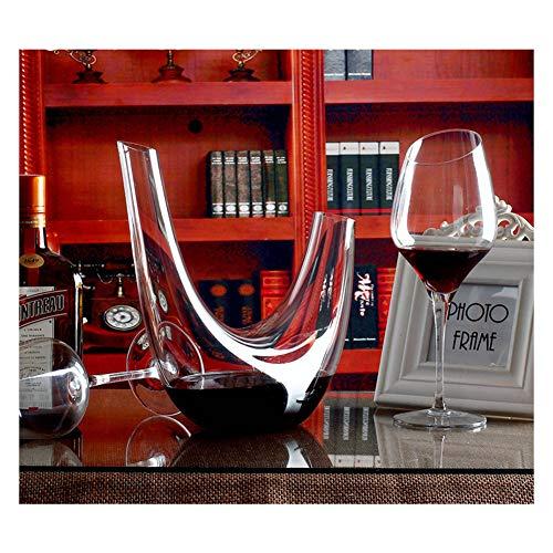Decantador de vino tinto de cristal sin plomo de 0,8 l, dispensador de vino, jarra de vino creativo para regalo familiar amigo