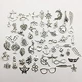 Immagine 1 100pcs argento anticato bricolage ciondoli