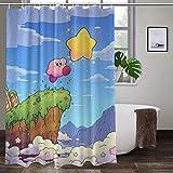 Rideau de douche Pokémon avec crochets, imperméable en polyester, lavable, style épuré 111,8 x 160 cm