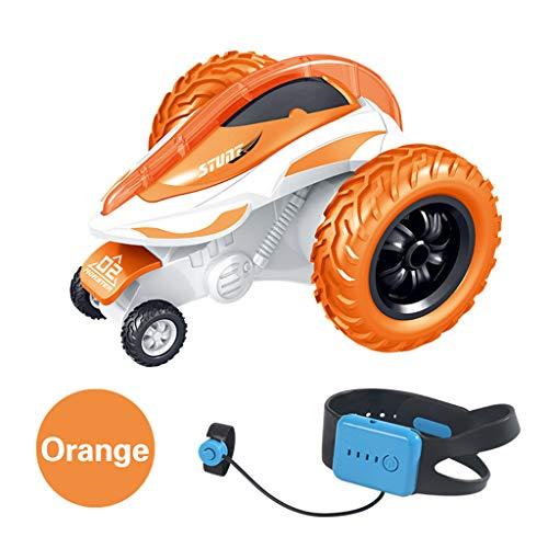 Webla Gesto juguete coche acrobacia control remoto gesto remoto 2.4G 4Ch con deriva acrobática de 360 grados(naranja)