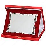 tecnocoppe Targa Pergamena in Alluminio con Astuccio e Stampa Personalizzata Compresa nel Prezzo