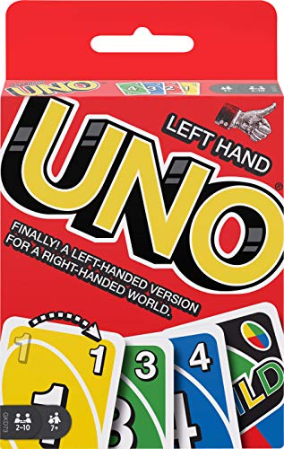 Left Hand UNOTM Card Game with 112 Cards and Instructions, for Players 7 Years Old and Up, Great Gift for Kid, Family & Adult Game Night, Multi (GKD73) -  Mattel
