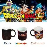 Taza mágica negra dragon ball super freezer goku vegeta bill sama saiyan dios
