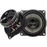 Massive Audio FX4 – 4 Inch, 200 Watts Max, 50 Watts RMS, FX Series Coaxial Speakers, 20mm Aluminum Dome Ferro Fluid, 6dB Linksworth Riley Crossover 4 Ohm (Sold AS Pair)