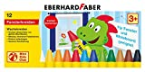 Eberhard Faber 524112 - Mini Kids Club, Wachsmalkreide für Fenster, 12 Stück im Kartonetui
