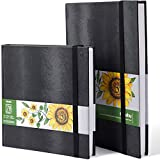 Ohuhu Marker Pads Art Sketchbooks, 2-Pack 8.3'×8.3'& 8.3'×11.7', 120 LB/200GSM Smooth Drawing Papers, Each Size Holds 78 Sheets/156 Pages, Hardcover Sketch Book Christmas
