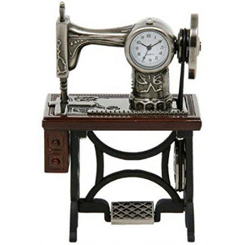 Miniatur antike Nähmaschine auf Tisch, Novelty Tischsammeluhr