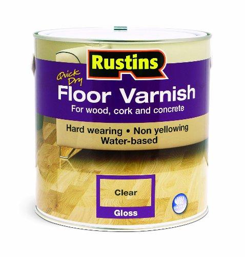Rustins - Vernice per pavimento lucida & satinata, 1 litro / 5 litri. Disponibili tutti i colori Gloss 1 Litre