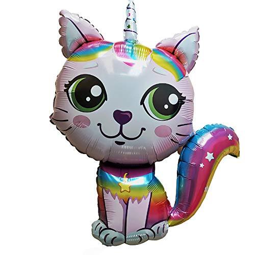 Caticorn Einhorn Katze rosa ca. 70 cm Luftballons Folienballon Party DekorationGeburtstag