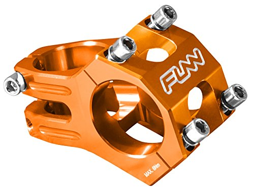 Funnduro MTB Stem, Bar Clamp 31.8mm, Ultralight and Tough Alloy stem for Mountain Bike (Length 35mm, Orange)