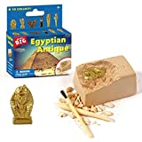 Auplew Mini kit de excavación de momia de juguete egipcio, una vez recolecta juguetes de Egipto, perfecto regalo educativo para fiesta de cumpleaños, herramienta de arqueología paleontológica para