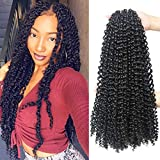 18 Inch Passion Twist Crochet Hair 6 Packs/Lot Water Wave Crochet Braiding Hair Long Bohemian Hair for Passion Twist Pre Looped Synthetic Natural Hair Extensions Soft Lightweight (2#)