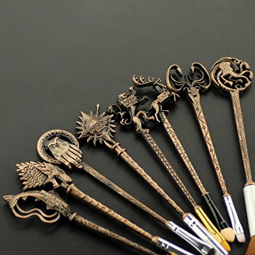 Game of Thrones Brushes – Cosmetic Makeup Collection (Set of 8 Brushes)