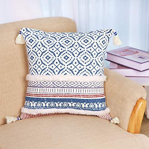 LIGICKY Funda de cojín decorativa tejida para sofá cama, d