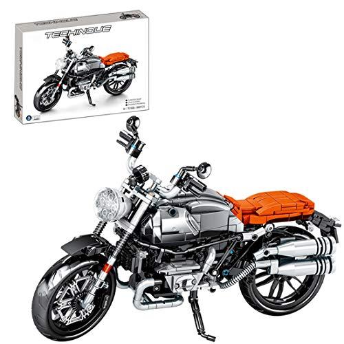 Oeasy Technik Motorrad für BMW NineT, 886 Klemmbausteine Rennen Motorrad Modell, Bausteine Bausatz Kompatibel mit Lego Technic