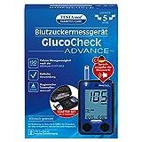 TESTAmed GlucoCheck ADVANCE Blutzuckermessgerät, einfach, schnell und sicher Blutzucker messen, inkl. Teststreifen und Lanzettengerät, optionale Sprachausgabe, geringe Folgekosten