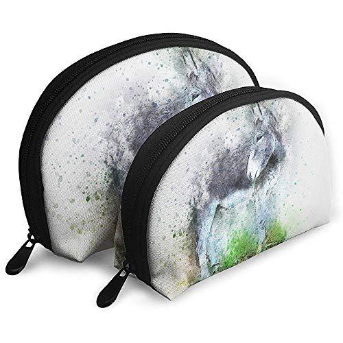 Scorpion Animal Art Tragbare Schminktäschchen Kulturbeutel, Tragbare Multifunktions-Reisetaschen Kleine Schminktäschchen mit Reißverschluss