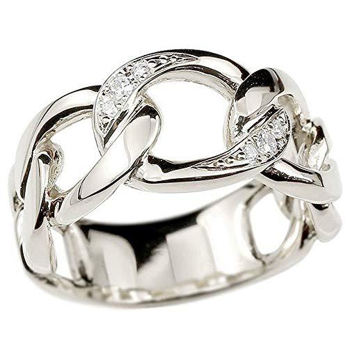 [アトラス]Atrus リング メンズ sv925 スターリングシルバー ダイヤモンド 鎖 幅広 喜平 指輪 トレジャーハンター 22号