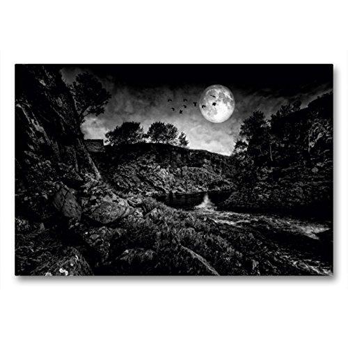 CALVENDO Premium Textil-Leinwand 90 x 60 cm Quer-Format Schottland, Caithness, The Devils Pool, Leinwanddruck von Martina Cross