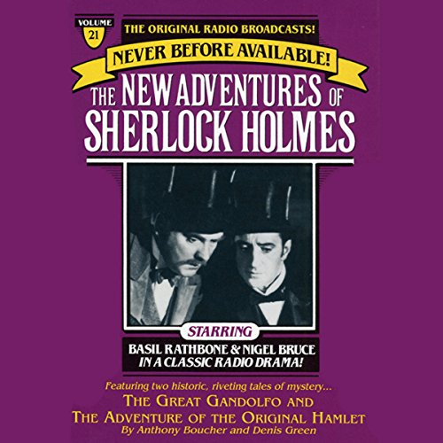 The Great Gondolofo and The Adventure of the Original Hamlet audiobook cover art