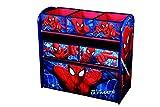 Disney Spiderman Kinderregal aus Holz mit 6 Aufbewahrungsboxen Spielzeugaufbewahrung