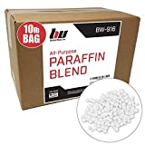 Blended Waxes, Inc. Paraffin Wax 10lb. Pastilles – General Purpose Bulk Paraffin Wax for DIY Projects, Candle Making, Canning and More