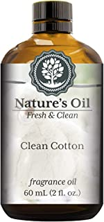 Clean Cotton Fragrance Oil (60ml) For Diffusers, Soap Making, Candles, Lotion, Home Scents, Linen Spray, Bath Bombs, Slime