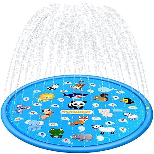 TOHIBEE 68quot Sprinkler for Kids Splash Pad Baby Wading Pool Sprinkler Pool Outdoor Water Toys Fun Backyard Fountain Play Mat for 1 12 Year Old Girls Boys Outdoor Party Sprinkler Toys