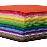 42pcs Felt Fabric Sheet 4'x4' Assorted Color DIY Craft Squares Nonwoven 1mm Thick
