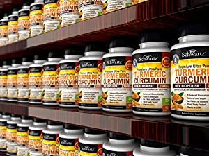 Turmeric Curcumin with BioPerine 1500mg. Highest Potency Available. Premium Joint & Healthy Inflammatory Support with 95% Standardized Curcuminoids. Non-GMO, Gluten Free Capsules with Black Pepper #4