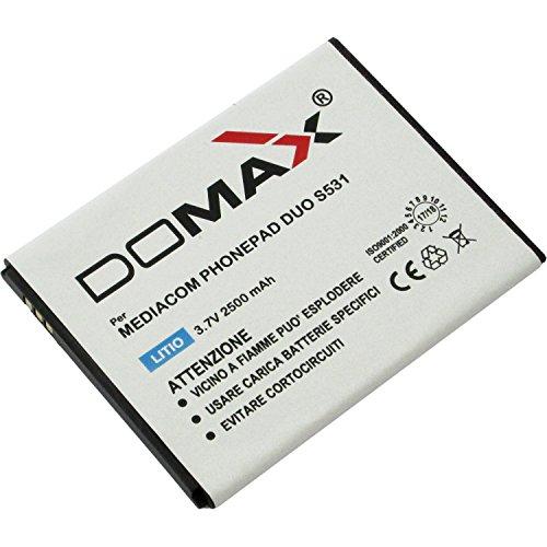 BATTERIA  DOMAX  PER MEDIACOM PHONEPAD DUO S531 ( COMPATIBILE CON M-BATS531 )
