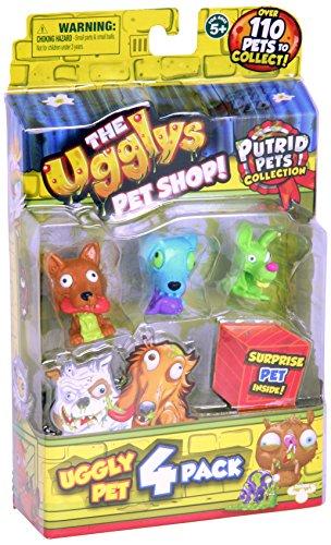 THE UGGLYS PET SHOP Putrid Pets Toy Figure (4 Pack)