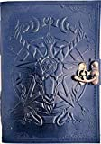 Urban Leather Saton Halloween Journal - Black Book of Shadows & Magic Spells - Bullet Journal - Drawing Sketchbook Scrapbook Writing Notebook for Your Witchcraft, Unlined
