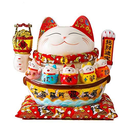 tgbvr Elektrische handmatig aantrekken, geld, kat, zwaaiende delen, keramiek, Rich Cat openen, een leuk automatisch cadeau voor kleine kassa