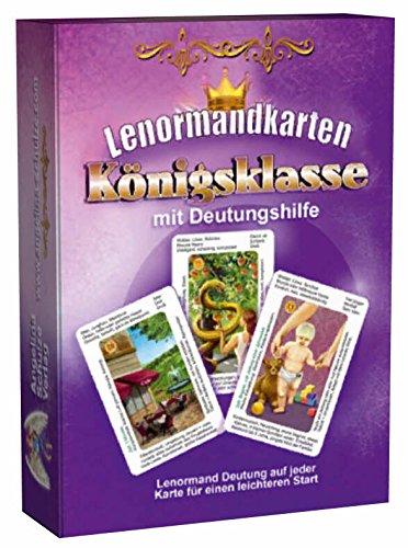 Lenormandkarten Königsklasse mit Deutungshilfe