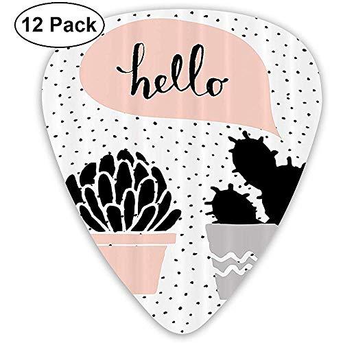 12 Pack twee met de hand beschilderde planten hebben een bubbel van dialoog Gitaar plukt volledige gift set voor gitarist