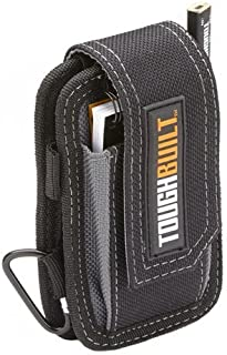 ToughBuilt - Smart Phone Pouch + Notebook & Pencil - Soft, Scratch Proof Lining, Fits Most Smart Phones, Includes ToughBuilt Notebook, Carpenter Pencil, and Carabiner (TB-33) NEW