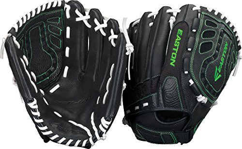 Easton Salvo en Maille Série Slowpitch Gant de Softball, 8034778, Black/Optic, 33 cm