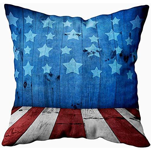 July kussenslopen USA stijl achtergrond lege houten tafelweergave, zilvergroen