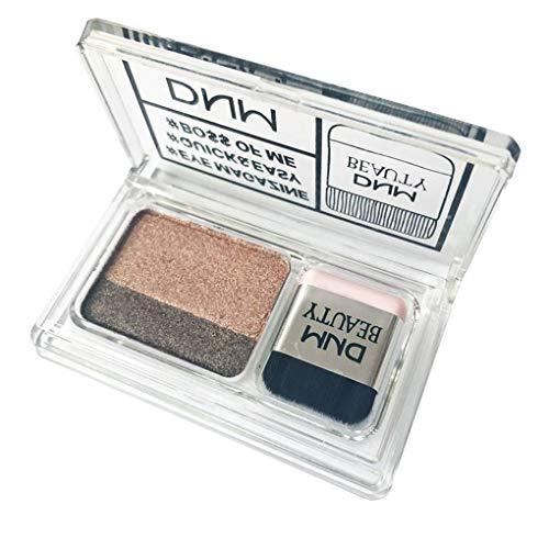 Babysbreath17 Los Colores Dobles Solo Paquete metálico Sombra de Ojos Maquillaje Paleta Shimmer pigmentadas Glitter Cosméticos 2