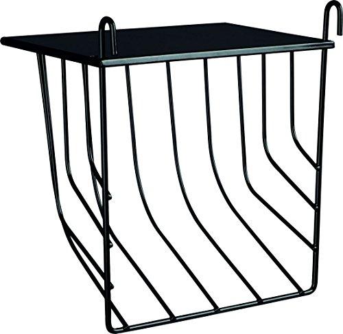 Trixie 60905 Heuraufe zum Einhängen mit Deckel, 17 × 18 × 12 cm, schwarz