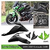 FATExpress Z400 Zubehör Motorrad ABS Bauchwanne für 18 19 20 Kawasaki Z 400 Bauchwanne Unterer Motorschutz Schutz Spoilerverkleidung Verkleidungsteile 2018 2019 2020 (Mattschwarz)