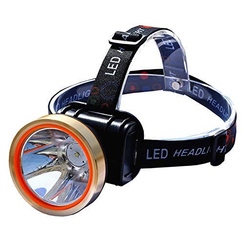 HMAN Headlamp Flashlight USB Fast Rechargeable LED Brightest High Spotlight Headlight,IPX4 Waterproof&6000mAh Flashlight Work Light,Head Lights for Camping,Hiking,Outdoors,hunting(Yellow light)
