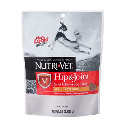 NutriVet Hip amp Joint Regular Strength Soft Chew for Dogs 53 OZ 60Count