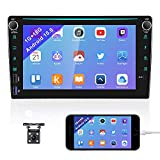 Android 10.0 Double Din Car Stereo with Bluetooth 8'' Car Raido GPS Navigation Head Unit Car Audio Radio WiFi FM Radio Receiver Support USB/MirrorLink/SWC/DVR/AMP/Subwoofer+Rear View Camera