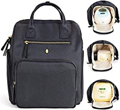 """Breast Pump Bag, Pumping Backpack w/ Tote Handles - Idaho Jones - Chertsey   Discrete, Easy to Carry, Professional   Fits All Pumps, Spectra and Medela, 15"""" Laptop, Milk Bottles, Lunch, Cell   Black"""