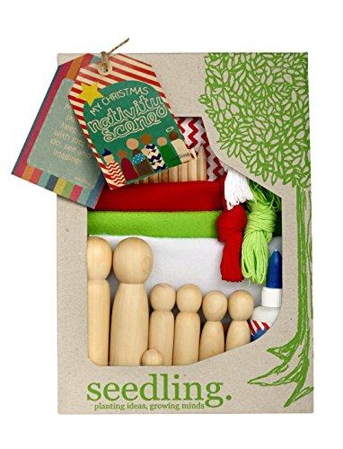seedling Sämling schaffen eine Weihnachtskrippe Craft