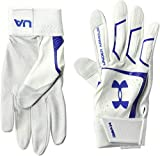 Under Armour Men's Yard Baseball Gloves, White (104)/Royal, Large