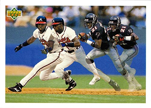 1992 Upper Deck #SP3 Deion Sanders Baseball/Football Card - Atlanta Braves and Falcons