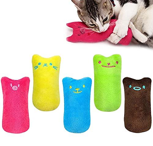 Esteopt 5 cuscini per gatti con erba gatta, giocattolo per gatti, giocattoli per gatti, giochi interattivi